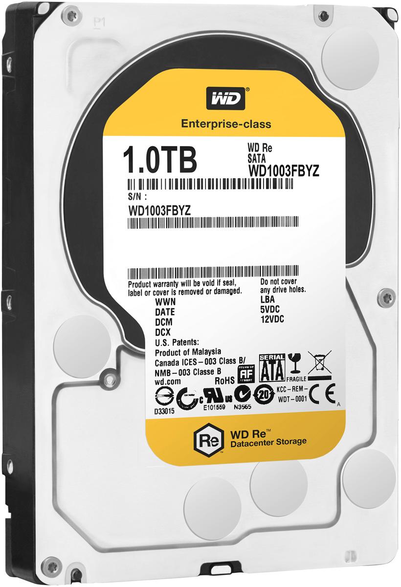 WD Re 1TB внутренний жесткий диск (WD1003FBYZ)WD1003FBYZМодель WD Re, созданная с применением передовых технологий, обеспечивающих стабильно высокую скорость работы в самых различных системах, и обладающая нагрузочной способностью в десять раз выше, чем накопители для настольных ПК - это рабочая лошадка семейства накопителей WD для ЦОД. Накопитель превосходно подходит для дисковых массивов, для которых требуются самые надежные диски. Благодаря своему высокому быстродействию, емкости и надежности модель WD Re превосходно подходит для хранилищ данных, систем добычи данных и высокоскоростных вычислительных систем. Этот накопитель, рассчитанный на обработку до 550 ТБ данных в год, имеет самую высокую нагрузочную способность среди 3,5-дюймовых жестких дисков и может работать быстро и надежно в любых ЦОД. Этот скоростной накопитель с MTBF до 2 млн. часов отличается высочайшей надежностью при круглосуточной работе в самых требовательных системах хранения. Система позиционирования головок с...