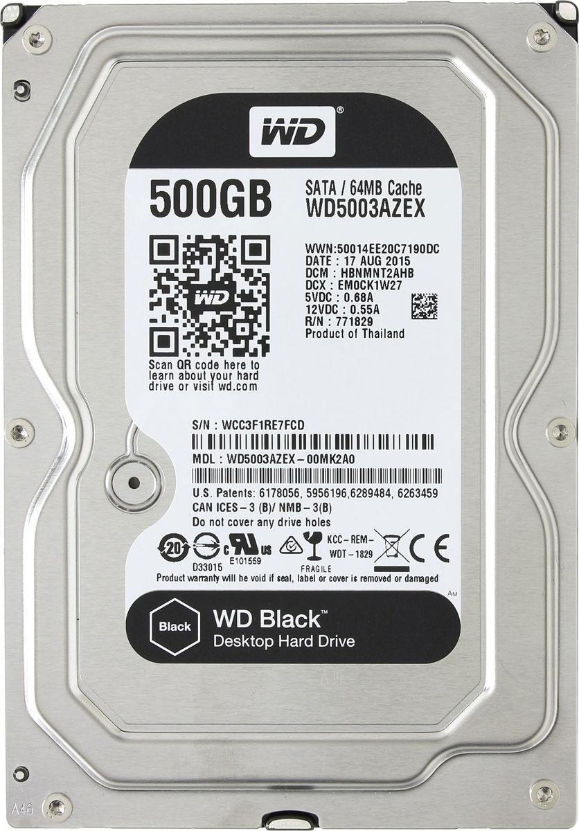 WD Black 500 GB внутренний жесткий диск (WD5003AZEX)WD5003AZEXНакопители WD Black предназначены для настольных ПК и рассчитаны на опытных пользователей, которым нужно высокое быстродействие. Накопители WD Black станут незаменимыми помощниками для каждого творческого человека — фотографа, режиссера видеомонтажа, художника компьютерной графики или пользователя, желающего создать собственную систему. Благодаря беспрецедентному быстродействию они прекрасно подходят для хранения больших мультимедийных файлов (фотоснимков, видео или приложений). Эти жесткие диски специально для ресурсоемких задач и превосходно подходят для игр. Они такие емкие, что на них с легкостью поместится вся игровая библиотека и даже останется место для ее пополнения. Этот накопитель обеспечит вашему игровому ПК достаточно емкости для загрузки дополнительного игрового контента и максимальное быстродействие за счет твердотельного компонента, так что у вас еще не скоро возникнет потребность в его модернизации. На каждый диск WD...
