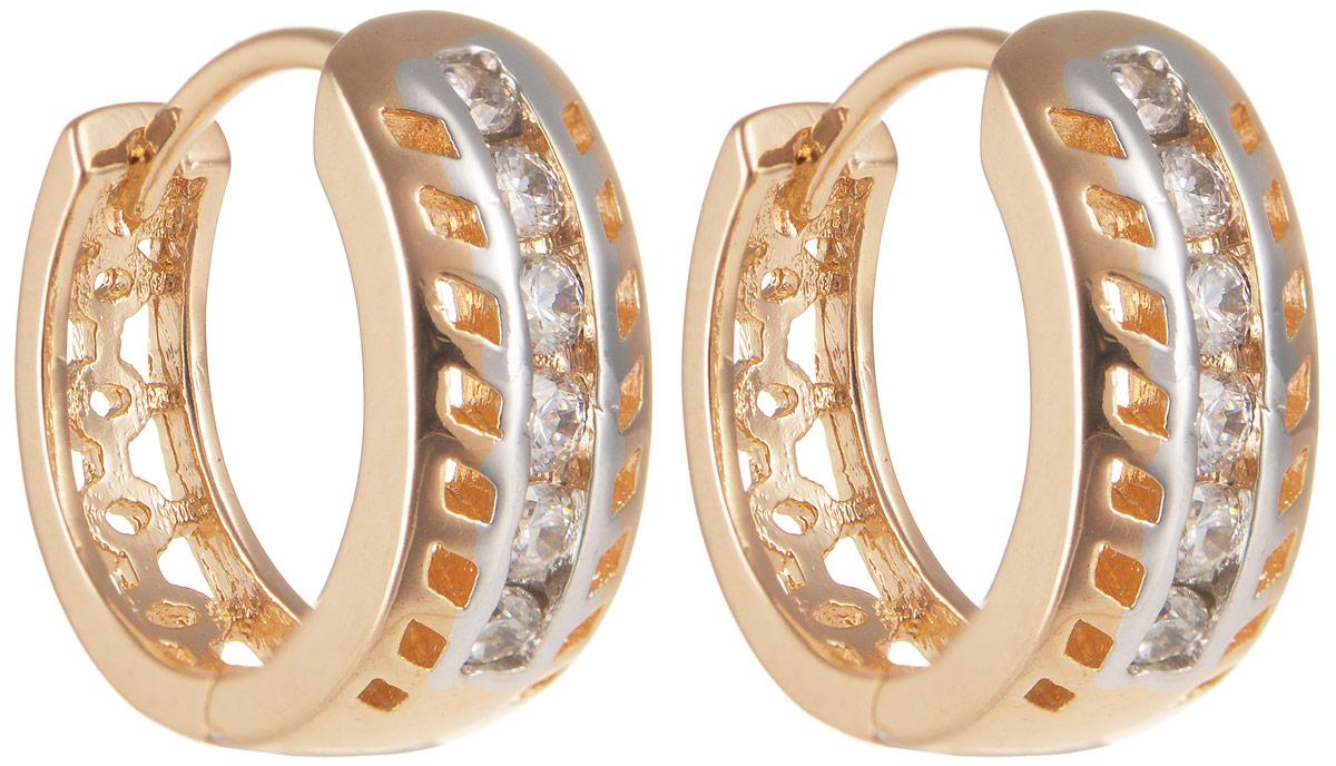 Серьги Taya, цвет: золотистый. T-B-11650T-B-11650-EARR-GOLDЭлегантные серьги Taya выполнены из бижутерного сплава, дополнены цирконами и оформлены оригинальным дизайном. Застегивается изделие с помощью замка-конго. Такие серьги внесут изюминку, как в повседневный, так и в выходной образ и позволят выделиться среди окружающих.