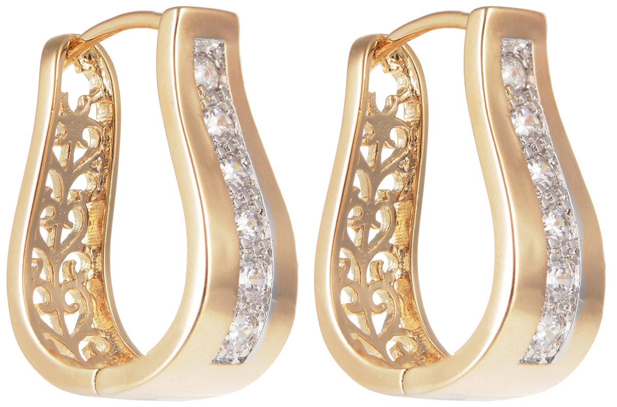 Серьги Taya, цвет: золотистый. T-B-11627T-B-11627-EARR-GOLDМодные позолоченные серьги Taya изготовлены из бижутерного сплава и оформлены цирконами. Изделие застегивается с помощью замка-конго. Оригинальные серьги внесут изюминку, как в повседневный, так и в выходной образ и позволят выделиться среди окружающих.