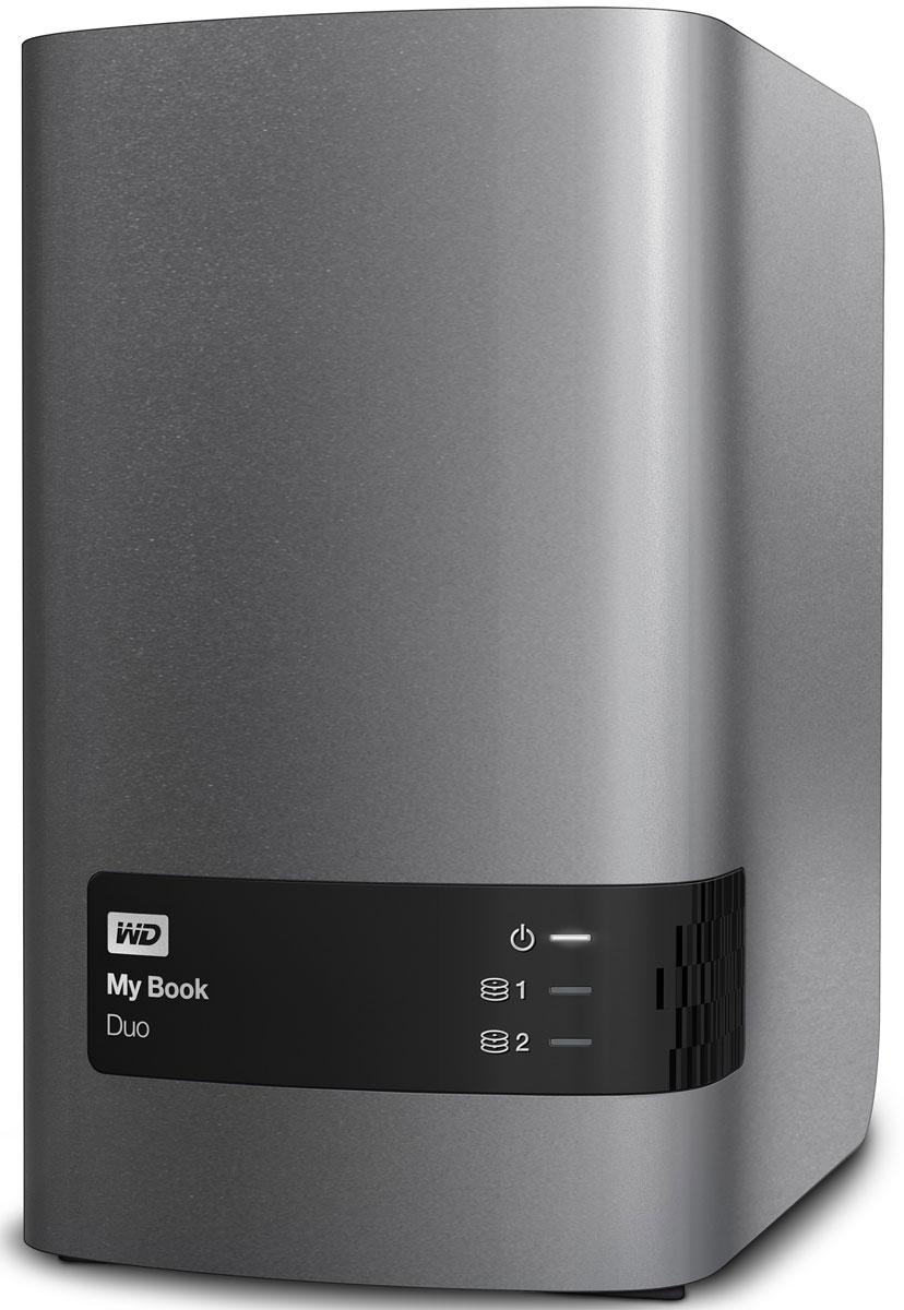 WD My Book Duo 4TB внешний жесткий диск (WDBRMH0040JCH-EEUE)WDBRMH0040JCH-EEUEНакопитель My Book Duo, оснащенный двумя жесткими дисками WD Red, обеспечивает внушительную емкость и в два раза более высокую скорость передачи данных. За счет объединения производительности дисков вы получаете скорость передачи до 324 МБ/с, что позволяет с легкостью копировать видео в формате Full HD или всю свою коллекцию мультимедиа. My Book Duo — это ваше персонализированное цифровое хранилище. Благодаря высокой емкости у вас будет достаточно места для централизованного хранения всей коллекции мультимедиа и важных документов в полном порядке и абсолютной безопасности. Настройте собственное расписание, чтобы копировать обновленные файлы или выполнять резервное копирование новых папок автоматически, используя WD SmartWare. Программа резервного копирования незаметно работает в фоновом режиме, так что защита ваших данных обеспечивается при потреблении минимального количества ресурсов компьютера. WD SmartWare также работает с Dropbox, так что...