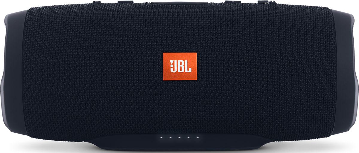 JBL Charge 3, Black портативная акустическая системаCHARGE3BLKEUУникальная беспроводная портативная акустическая система JBL Charge 3 гарантирует мощный стерео-звук и источник энергии в одном устройстве. Благодаря водонепроницаемому прорезиненному тканевому корпусу вечеринку с Charge 3 можно устроить в любом месте — у бассейна и даже под дождем. Аккумулятор высокой емкости на 6000 мАч гарантирует бесперебойную работу в течение 15 часов и позволяет заряжать смартфоны и планшеты по USB. Встроенный микрофон с шумо- и эхоподавлением гарантирует идеально чистый звук во время телефонных разговоров по нажатию одной кнопки. Подключайте дополнительные колонки с поддержкой JBL Connect по беспроводному соединению для еще более мощного звука.