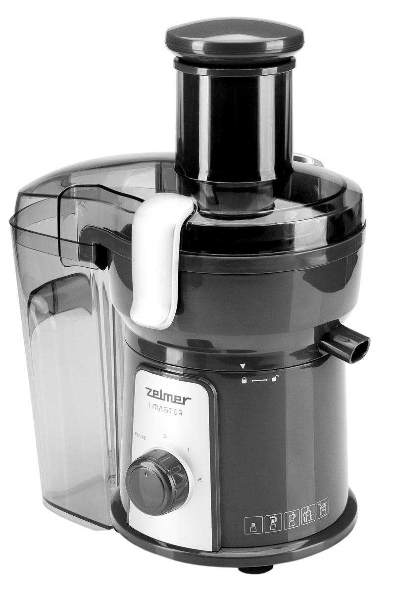 Zelmer ZJE1205G соковыжималкаZJE1205GМодель Zelmer ZJE1205G - это не просто соковыжималка. Данный прибор оборудован дополнительными насадками, которые делают из него многофункциональный комбайн, позволяющий быстро и легко приготовить любое блюдо. Чаша для смешивания позволяет приготовлять коктейли, супы для детей, соусы или же десерты. Меняя насадку, вы получите измельчитель, двусторонний диск из нержавеющей стали которого позволяет измельчать и крошить продукты, облегчая тем самым приготовление салатов. Измельчитель также оборудован ножом из нержавеющей стали, благодаря которому вы можете легко нарезать любой пищевой продукт. В комплект входит также ударная кофемолка, позволяющая быстро и тщательно перемолоть не только кофе, но и зерна злаковых, специи или орехи.