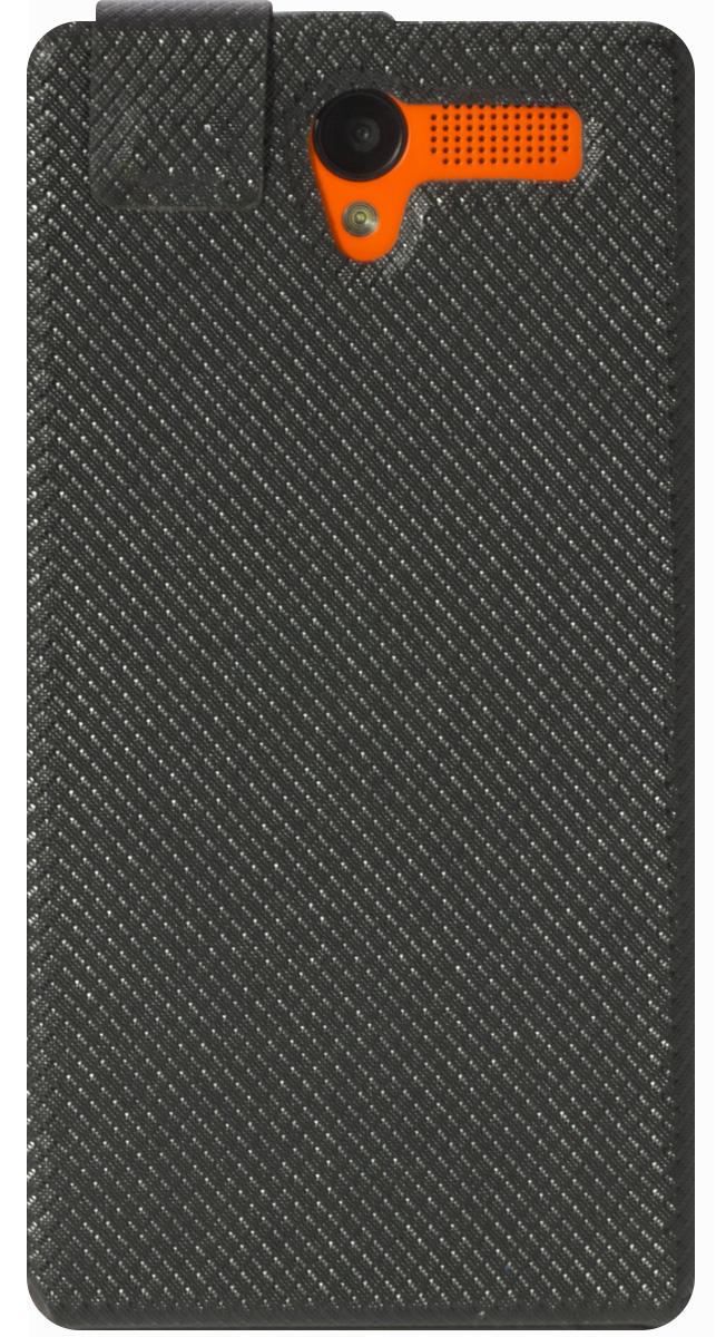 Highscreen чехол для Pure Power, Black23385Чехол с откидной крышкой Highscreen для Pure Power надежно защищает ваш смартфон от внешних воздействий, грязи, пыли, брызг. Он также поможет при ударах и падениях, не позволив образоваться на корпусе царапинам и потертостям. Чехол обеспечивает свободный доступ ко всем функциональным кнопкам смартфона и камере.