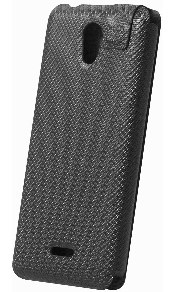 Highscreen Flip Case чехол для Easy S/Pro, Black23440Чехол с откидной крышкой Highscreen для Easy S/Pro надежно защищает ваш смартфон от внешних воздействий, грязи, пыли, брызг. Он также поможет при ударах и падениях, не позволив образоваться на корпусе царапинам и потертостям. Чехол обеспечивает свободный доступ ко всем функциональным кнопкам смартфона и камере.