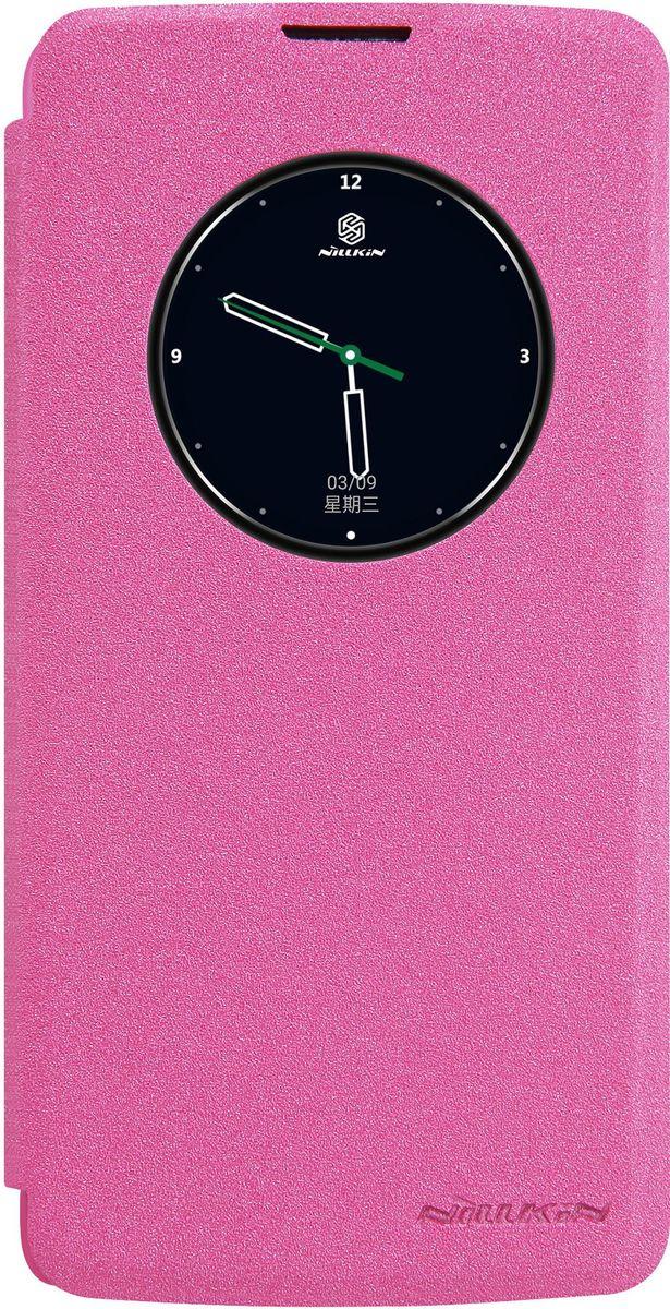 Nillkin Sparkle Leather Case чехол для LG K8, Red2000000094748Чехол Nillkin Sparkle для LG K8 надежно защитит ваш смартфон от внешних воздействий, грязи, пыли, брызг. Он также поможет при ударах и падениях, не позволив образоваться на корпусе царапинам и потертостям. Чехол обеспечивает свободный доступ ко всем функциональным кнопкам смартфона и камере. Благодаря окошку для предпросмотра вы можете отвечать на звонки не открывая чехол, а также узнавать время и использовать другие функции вашего смартфона.