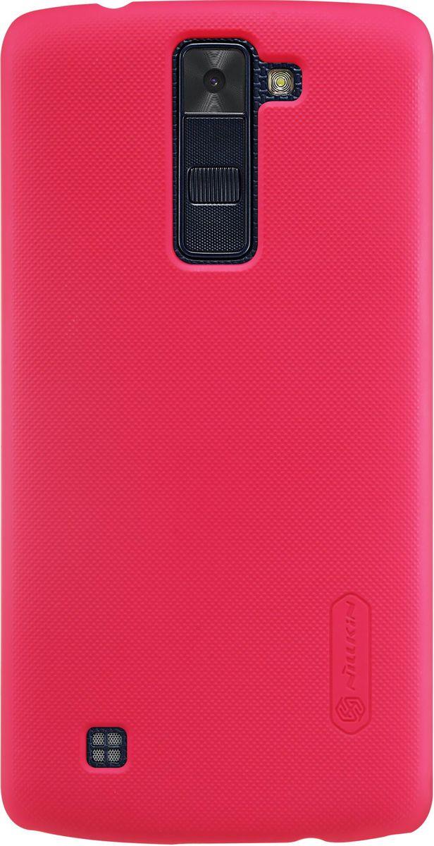Nillkin Super Frosted Shield чехол для LG K8, Red2000000096216Чехол Nillkin Super Frosted Shield для LG K8 надежно защитит ваш смартфон от внешних воздействий, грязи, пыли, брызг. Он также поможет при ударах и падениях, не позволив образоваться на корпусе царапинам и потертостям. Чехол обеспечивает свободный доступ ко всем функциональным кнопкам смартфона и камере. Задняя сторона изготовлена из шершавого пластика, который не даст смартфону выскользнуть из рук.