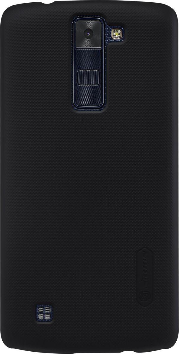 Nillkin Super Frosted Shield чехол для LG K8, Black2000000096223Чехол Nillkin Super Frosted Shield для LG K8 надежно защитит ваш смартфон от внешних воздействий, грязи, пыли, брызг. Он также поможет при ударах и падениях, не позволив образоваться на корпусе царапинам и потертостям. Чехол обеспечивает свободный доступ ко всем функциональным кнопкам смартфона и камере. Задняя сторона изготовлена из шершавого пластика, который не даст смартфону выскользнуть из рук.