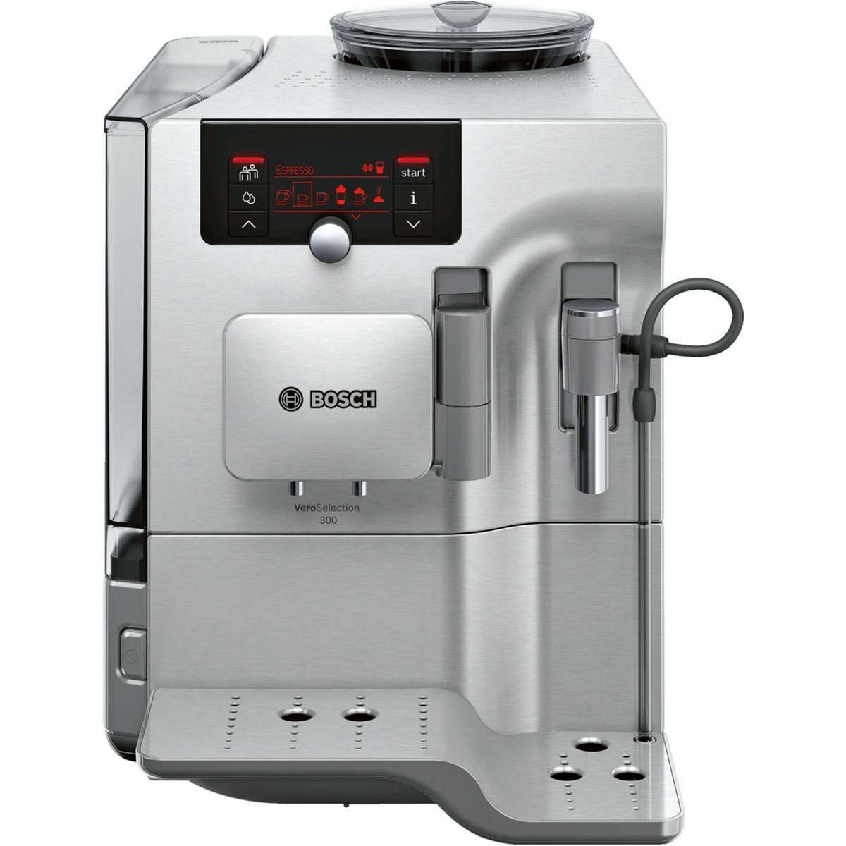 Bosch TES80323RW, Silver кофемашинаTES80323RWКофемашина Bosch TES80323RW создана для тех, кто любит наслаждаться кофейными напитками как можно дольше. Bosch предлагает специальную функции очистки кофемашины от накипи и масел. Просто активируйте функцию CalcnClean, используя специальные средства по уходу и чистке кофемашин. CreamCleaner - программа, позволяющая быстро и удобно очистить капучинатор от остатков молока. Достаточно нажать на кнопку и процесс очистки начнется автоматически. Большой выбор напитков и комфорт при приготовлении. Функция OneTouch для приготовления кофейных напитков одним нажатием кнопки и PersonalCoffee Pro для сохранения индивидуальных настроек.
