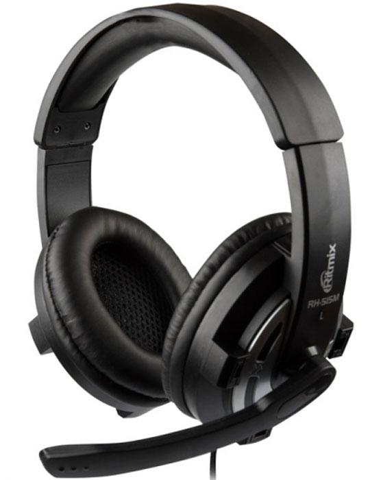 Ritmix RH-515M, Black компьютерная гарнитура15118444Ritmix RH-515M – это компьютерная гарнитура с большими излучателями, обеспечивающими качественную звукопередачу, и амбушюрами мониторного типа. Гарнитура оснащена микрофоном на жёсткой ножке. Она идеально подходит для компьютерных игр, распознавания речи, интернет-телефонии и работы со всеми приложениями VoIP. Мягкое регулируемое оголовье Длинный износостойкий шнур в тканевой оплетке Тип микрофона: конденсаторный, всенаправленный Чувствительность микрофона: -58 дБ