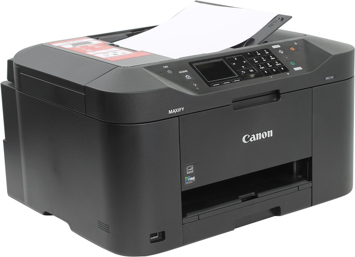 Canon Maxify MB2140 (0959C007) МФУ0959C007Универсальный принтер, сканер, копир и факс, разработанный для домашних офисов, в которых требуется монохромная и цветная печать высокого качества с низкими расходами. Canon Maxify MB2140, оснащенное устройством автоматической подачи документов на 50 листов и кассетой на 250 листов, обеспечивает исключительные результаты печати с яркой цветопередачей и высокой четкостью текста за счет использования чернил DRHD, устойчивых к стиранию и маркерам. Canon Maxify MB2140 позволяет выполнять печать на бумаге формата A4 с высокой скоростью — 19 изображений в минуту в монохромном режиме и 13 изображений в минуту в цветном режиме, а время вывода первой страницы (FPOT) составляет всего 6 секунд. Основной особенностью этого устройства является его экономичность — от низкого потребления энергии всего 0,2 кВт/ч (обычное потребление энергии) до цветных картриджей с большим ресурсом и возможностью индивидуальной замены. Черные картриджи имеют ресурс 1200 страниц в...