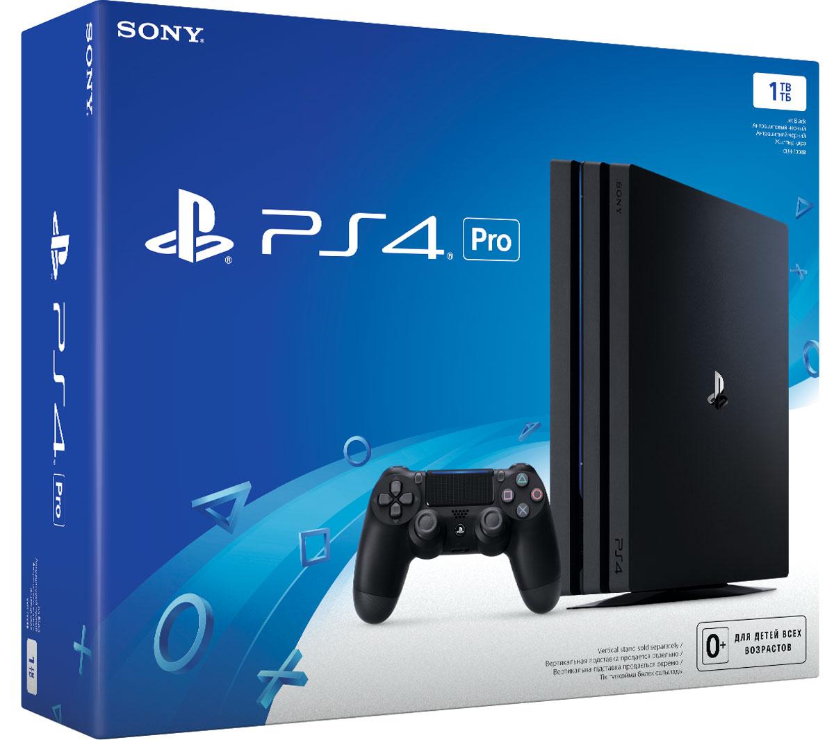 Игровая приставка Sony PlayStation 4 Pro (1 TB), Black (CUH-7008B)1CSC20002462Благодаря повышенной производительности центрального и графического процессоров, PS4 Pro позволяет добиться в играх графики со значительно большим числом деталей и беспрецедентной четкостью изображения. Пользователи с 4К телевизорами смогут насладиться всеми играми на PS4 в улучшенном качестве с разрешением 4К и более высокой и стабильной частотой кадров. Кроме того, PS4 Pro поддерживает воспроизведение 4К видео, что позволяет пользоваться 4К стриминговыми сервисами, в том числе Netflix и YouTube. Владельцы HDTV также смогут испытать новый игровой опыт от PS4 Pro, ведь система позволяет запускать все игры PS4 в разрешении 1080p, а также повысить частоту кадров и ее стабильность для некоторых поддерживаемых игр. Кроме того, заглядывая в будущее визуальных технологий, все системы PS4, включая PS4 Pro, будут поддерживать технологию HDR, что позволит воспроизводить светлые и темные сцены с помощью гораздо большего количества цветов. Пользователи,...