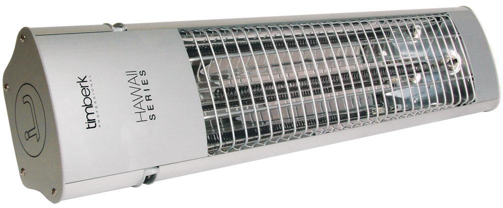 Timberk TIR HP1 1800 инфракрасный электрический обогревательTIR HP1 1800Инфракрасный обогреватель Timberk TIR HP1 1800 рассчитан на обогрев жилых, офисных и производственных помещений. За счет высокой степени защищенности от коррозии возможна установка обогревателя на улице. Монтаж прибора осуществляется на стене. Возможен локальный обогрев площадей и поверхностей предметов. Высокая скорость обогрева помещения за счет моментального выхода и рабочий режим Существенная экономия электроэнергии по сравнению с конвекционным типом обогрева Полная защита от пыли и защита от водяных струй в любом направлении - класс IP65 Возможности локального обогрева площадей и поверхностей предметов Безопасное настенное крепление Возможность регулировки угла наклона обогревателя Высота подвеса: 2,2 м