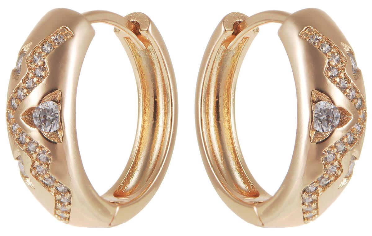Серьги Taya, цвет: золотистый. T-B-11693T-B-11693-EARR-GOLDМодные позолоченные серьги Taya изготовлены из бижутерного сплава и оформлены цирконами. Застегивается изделие с помощью замка-конго. Оригинальные серьги внесут изюминку, как в повседневный, так и в выходной образ и позволят выделиться среди окружающих.