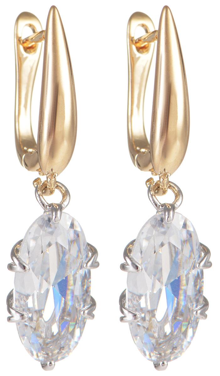 Серьги Taya, цвет: золотистый. T-B-11652T-B-11652-EARR-GOLDЭлегантные серьги Taya выполнены из бижутерного сплава и дополнены вставками из циркона. Серьги оформлены подвесками в форме овальных камней. Изделие оснащено практичной английской застежкой. Роскошные серьги помогут создать вам запоминающийся образ.