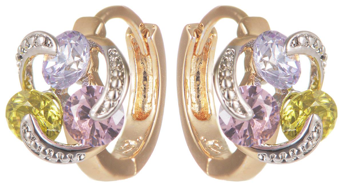 Серьги Taya, цвет: золотистый, розовый, зеленый. T-B-11645T-B-11645-EARR-GL.MULTIМодные позолоченные серьги Taya изготовлены из бижутерного сплава и оформлены цирконами. Серьги застегиваются с помощью замка-булавки. Оригинальные серьги внесут изюминку, как в повседневный, так и в выходной образ и позволят выделиться среди окружающих.