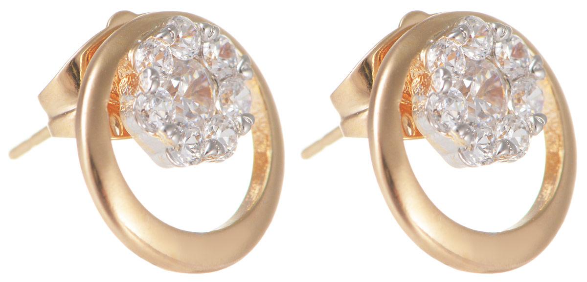 Серьги Taya, цвет: золотистый. T-B-11633T-B-11633-EARR-GOLDМодные позолоченные серьги-гвоздики Taya изготовлены из бижутерного сплава и оформлены цирконами. Застегивается изделие с помощью замка-гвоздика и металлической заглушки. Оригинальные серьги внесут изюминку, как в повседневный, так и в выходной образ и позволят выделиться среди окружающих.