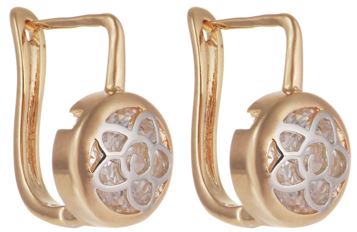 Серьги Taya, цвет: золотистый, серебристый. T-B-11691T-B-11691-EARR-GOLDМодные позолоченные серьги Taya изготовлены из бижутерного сплава и оформлены цирконами. Застегивается изделие с помощью английского замка. Оригинальные серьги внесут изюминку, как в повседневный, так и в выходной образ и позволят выделиться среди окружающих.