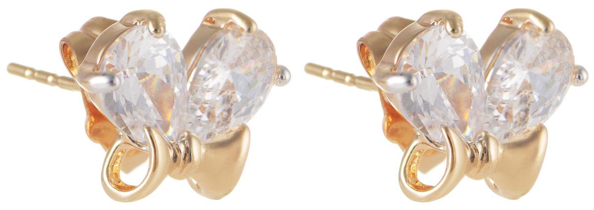 Серьги Taya, цвет: золотистый. T-B-11646T-B-11646-EARR-GOLDМодные позолоченные серьги-гвоздики Taya изготовлены из бижутерного сплава и оформлены цирконами. Изделие застегивается с помощью замка-гвоздика и металлической заглушки. Оригинальные серьги внесут изюминку, как в повседневный, так и в выходной образ и позволят выделиться среди окружающих.