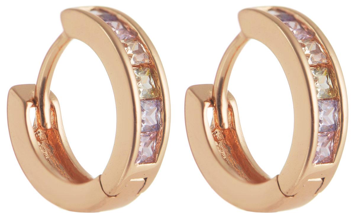 Серьги Taya, цвет: золотистый, синий, розовый. T-B-11686T-B-11686-EARR-GL.MULTIМодные позолоченные серьги Taya изготовлены из бижутерного сплава и оформлены цирконами. Застегивается изделие с помощью замка-конго. Оригинальные серьги внесут изюминку, как в повседневный, так и в выходной образ и позволят выделиться среди окружающих.