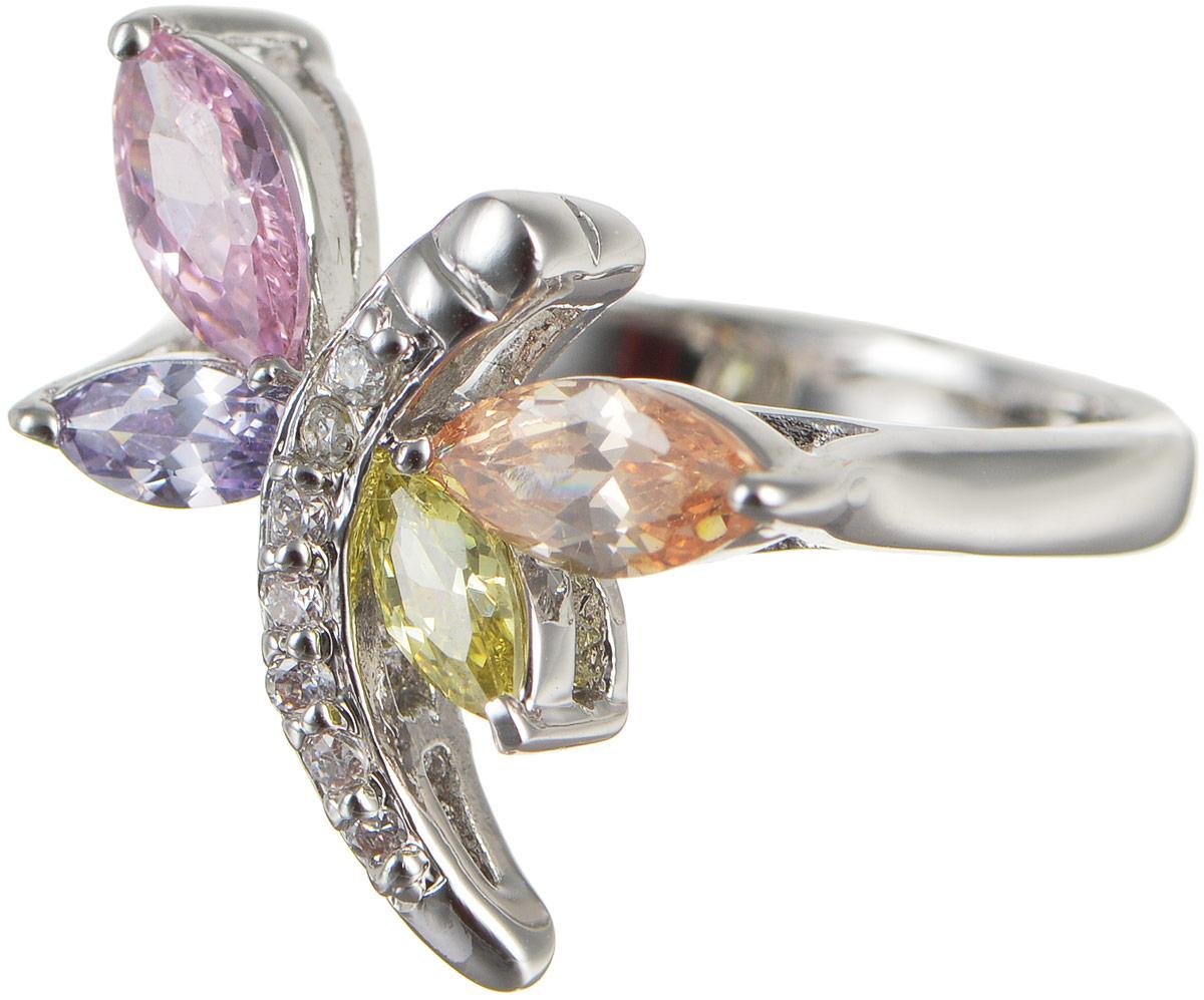 Кольцо женское Taya, цвет: серебристый, розовый, зеленый. T-B-4779T-B-4779-RING-MULTIОригинальное кольцо Taya выполнено из бижутерного сплава оформлено в виде стрекозы и дополнено цирконами. Такое кольцо это блестящее завершение вашего неповторимого и смелого образа и отличный подарок для ценительницы необычных украшений!