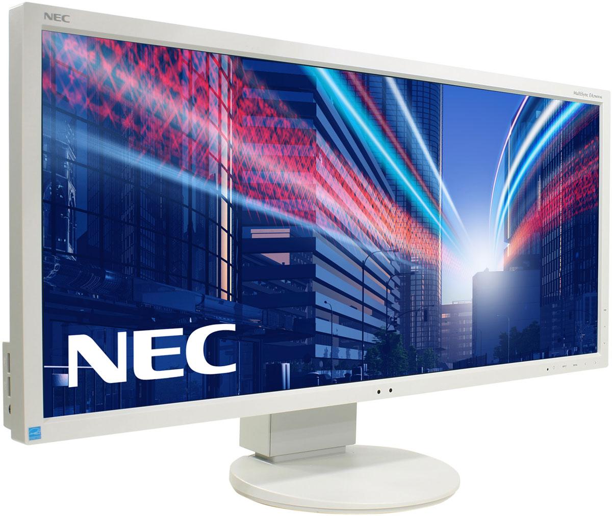 NEC EA294WMi, White монитор60003415Модель NEC EA294WMi обладает очень тонкой 29-дюймовой панелью 21:9 с разрешением 2560x1080, а также со светодиодной подсветкой и IPS-технологией, что обеспечивает ультрасовременный и ультратонкий дизайн. Благодаря новому формату, соответствующему экранной установке из двух обычных 19-дюймовых экранов, данная модель является отличной альтернативой для любых многоэкранных установок. Датчик внешней освещенности и датчик присутствия являются характеристиками, соответствующими экологичной концепции продукции, кроме того, данная модель обладает улучшенными эргономическими характеристиками, например, механизмом регулирования высоты до 130 мм. Новая характеристика Control Sync обеспечивает синхронизацию мультимониторной настройки, а стандарт MHL (Mobile High Definition Link) предоставляет прямую связь монитора с вашим смартфоном. Эргономичный офис - регулировка по высоте (130 мм), возможность поворота, наклона и вращения обеспечивает удобную установку с учетом...