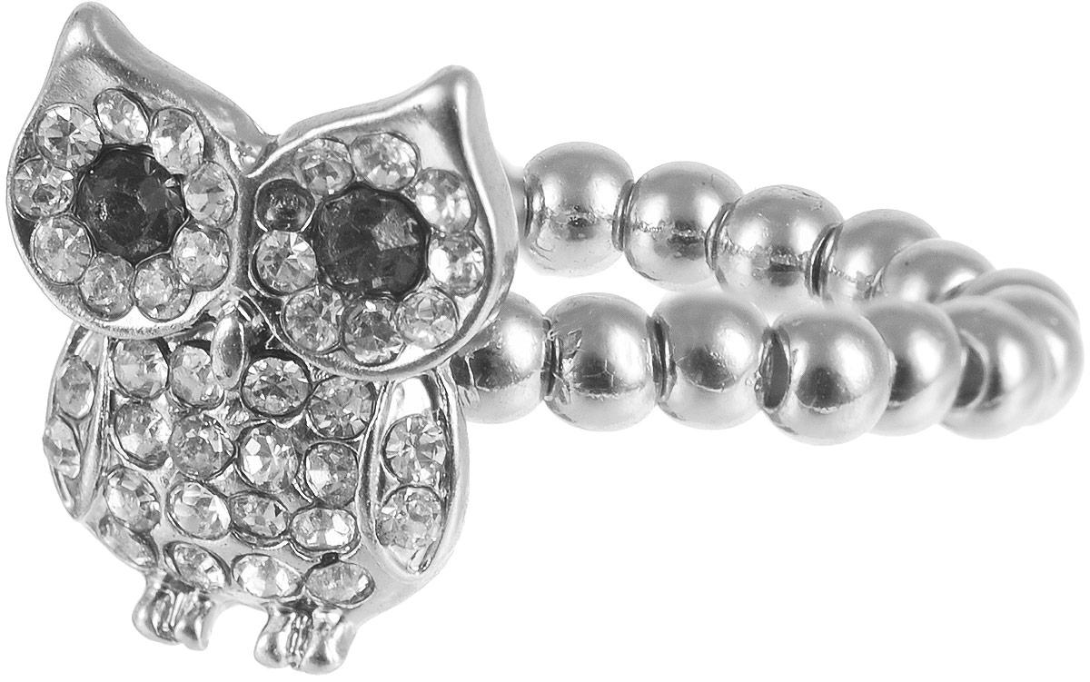 Кольцо женское Taya, цвет: серебристый. T-B-6332T-B-6332-RING-SILVERОригинальное безразмерное кольцо Taya выполнено из бижутерного сплава и дополнено стразами. Модель оформлена в виде маленького совенка. Такое колечко выглядит очень нежно и стильно. Это блестящее завершение вашего неповторимого и смелого образа и отличный подарок для ценительницы необычных украшений!
