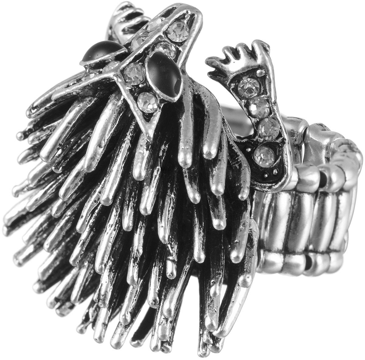 Кольцо женское Taya, цвет: серебристый. T-B-9257T-B-9257-RING-SILVERСтильное кольцо Taya выполнено из бижутерного сплава оформлено в виде дикобраза и дополнено стразами. Обхват кольца регулируется при помощи эластичной резиночки. Такое кольцо модного дизайна поможет создать уникальный и запоминающийся образ.