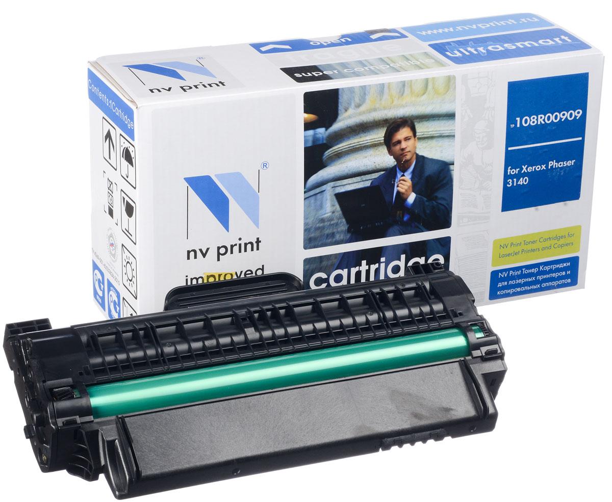 NV Print NV-108R00909, Black тонер-картридж для Xerox Phaser 3140/3155/3160NV-108R00909Совместимый лазерный картридж NV Print NV-08R00909 для печатающих устройств Xerox - это альтернатива приобретению оригинальных расходных материалов. При этом качество печати остается высоким. Картридж обеспечивает повышенную чёткость чёрного текста и плавность переходов оттенков серого цвета и полутонов, позволяет отображать мельчайшие детали изображения. Лазерные принтеры, копировальные аппараты и МФУ являются более выгодными в печати, чем струйные устройства, так как лазерных картриджей хватает на значительно большее количество отпечатков, чем обычных. Для печати в данном случае используются не чернила, а тонер.