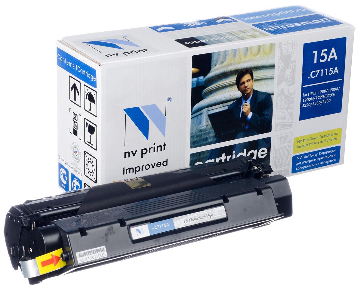 NV Print NV-C7115A, Black тонер-картридж для HP LaserJet 1200/1200A/1200N/1220/3300/3320/3330/3380NV-C7115AСовместимый лазерный картридж NV Print NV-C7115A для печатающих устройств HP - это альтернатива приобретению оригинальных расходных материалов. При этом качество печати остается высоким. Картридж обеспечивает повышенную чёткость чёрного текста и плавность переходов оттенков серого цвета и полутонов, позволяет отображать мельчайшие детали изображения. Лазерные принтеры, копировальные аппараты и МФУ являются более выгодными в печати, чем струйные устройства, так как лазерных картриджей хватает на значительно большее количество отпечатков, чем обычных. Для печати в данном случае используются не чернила, а тонер.