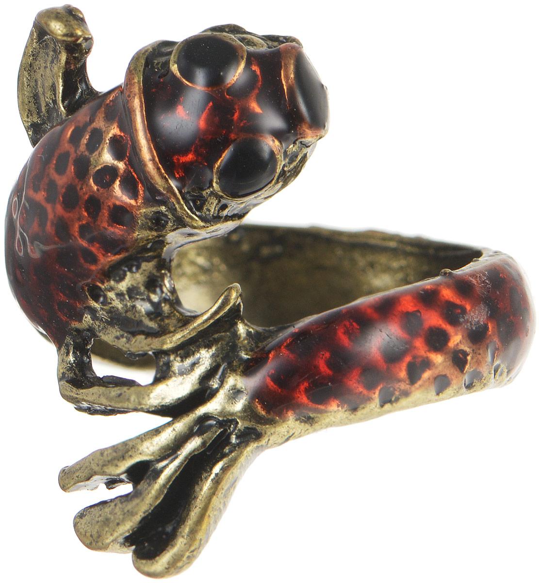 Кольцо YusliQ. Ручная авторская работа. 26-02326-023Стильное кольцо YusliQ выполнено из металла в виде рыбы, оформлено эмалью. Такое кольцо это блестящее завершение вашего неповторимого и смелого образа и отличный подарок для ценительницы необычных украшений!