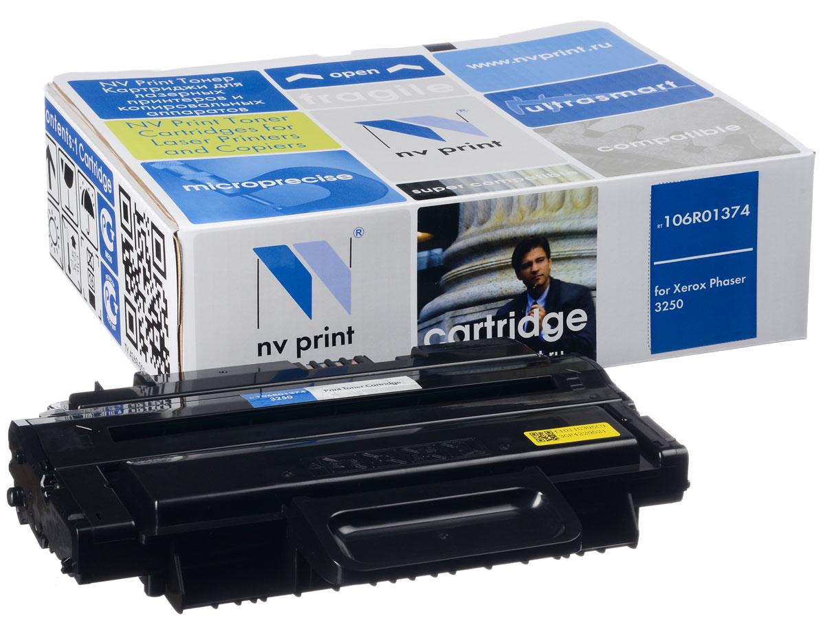 NV Print NV-106R01374, Black тонер-картридж для Xerox Phaser 3250NV-106R01374Совместимый лазерный картридж NV Print NV-106R01374 для печатающих устройств Xerox - это альтернатива приобретению оригинальных расходных материалов. При этом качество печати остается высоким. Картридж обеспечивает повышенную чёткость чёрного текста и плавность переходов оттенков серого цвета и полутонов, позволяет отображать мельчайшие детали изображения. Лазерные принтеры, копировальные аппараты и МФУ являются более выгодными в печати, чем струйные устройства, так как лазерных картриджей хватает на значительно большее количество отпечатков, чем обычных. Для печати в данном случае используются не чернила, а тонер.