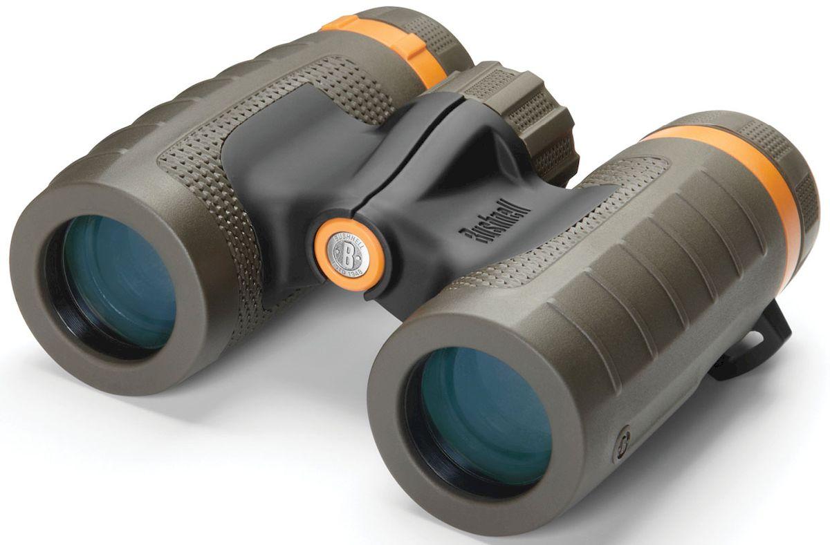 Бинокль Bushnell Off Trail 10x 28, цвет: серо-зеленый211028Бинокль Bushnell Off Trail 10x28 идеален для дальних походов. Призмы из стекла BaK-4 обеспечивают высокие характеристики при минимальных размерах, а многослойное просветляющее покрытие даст возможность насладиться видом, когда вы доберётесь до места. Защищённые от воды и запотевания бинокли Off Trail предназначены для мира, находящегося вдали от вашей калитки.