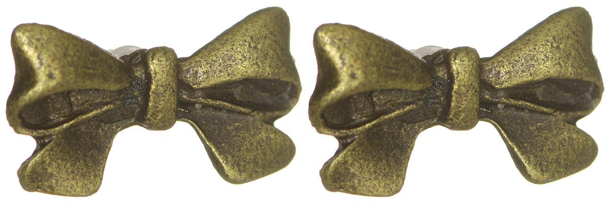 Серьги YusliQ Бантики. Ручная авторская работа. 40014001Авторские серьги ручной работы YusliQ выполненные из металла в виде бантиков. Изделие оснащено удобным замком-гвоздиком. Застежка выполнена из силикона. Серьги из серии Кэжуал добавят оригинальности в ваш повседневный образ. Эти сережки придутся по вкусу любительнице стильных аксессуаров.
