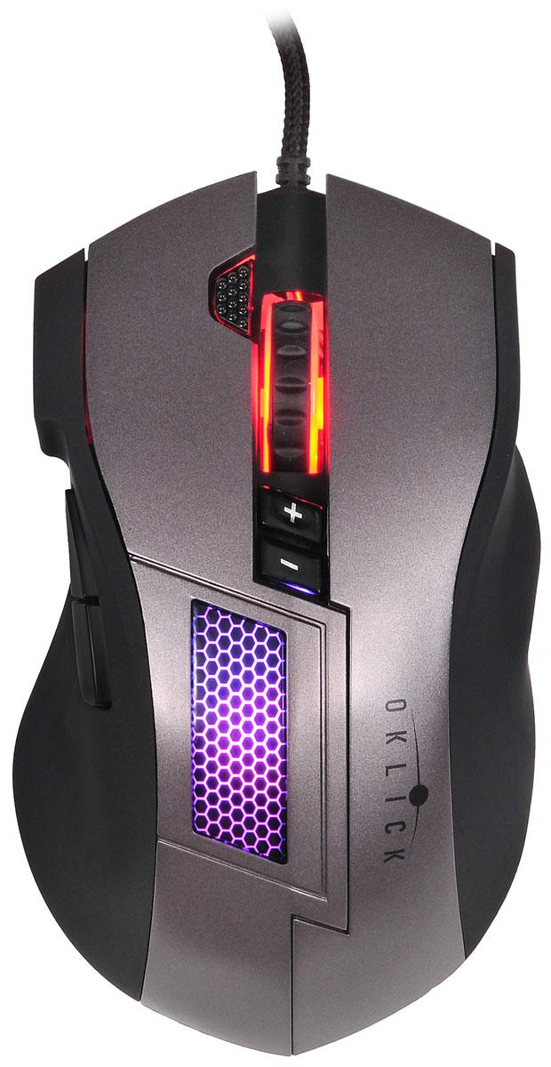 Oklick 805G, Black Grey мышь игровая