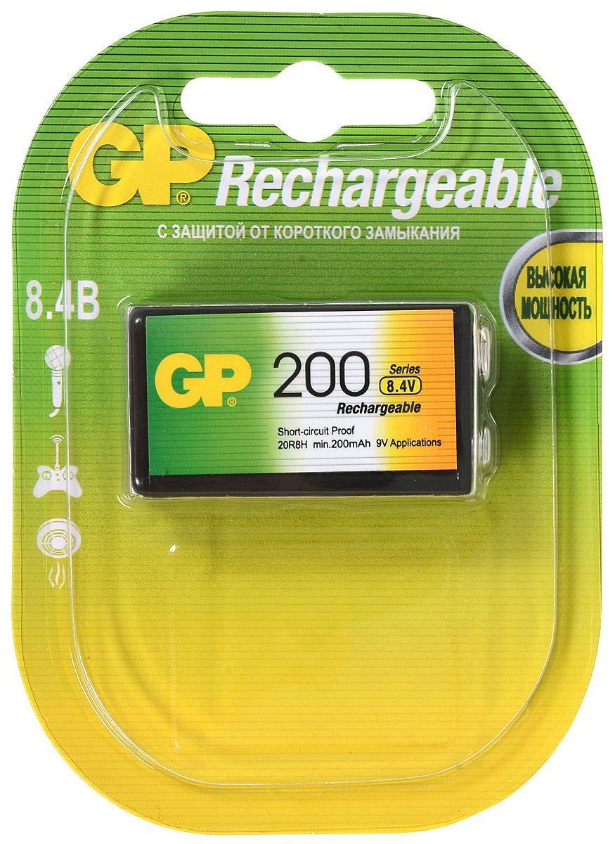 Аккумулятор GP Batteries, тип Крона, 9V, 200 mAh2849Перезаряжаемый аккумулятор GP Batteries используются повсюду и применимы в широком спектре устройств. Он сохраняет энергию длительное время и может быть перезаряжен до 500 раз. Батарейка обладает энергоемкостью выше, чем у алкалиновых элементов питания. Защищена от коротких замыканий. Изделие производится по новой, более совершенной технологии LSD, которая гарантирует аккумулятору низкий саморазряд - позволяет сохранять минимум 30% заряда в течение 2 лет хранения.