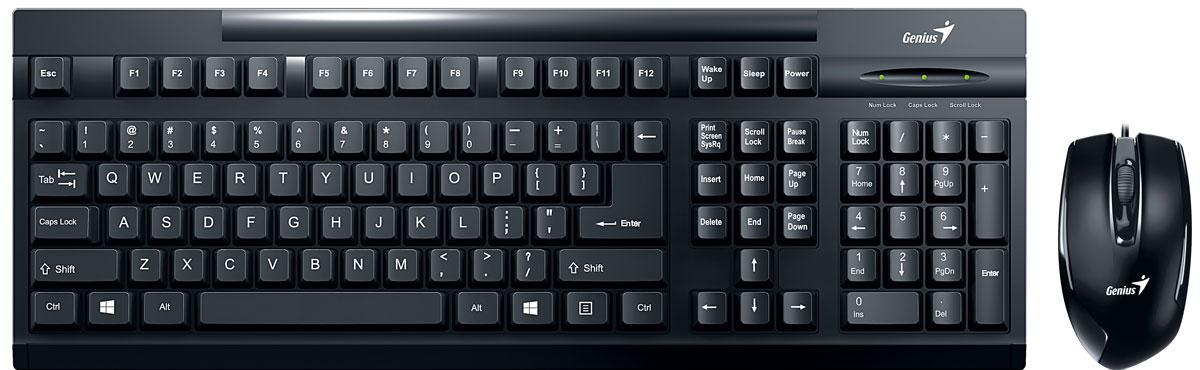 Genius KM-122, Black клавиатура + мышь