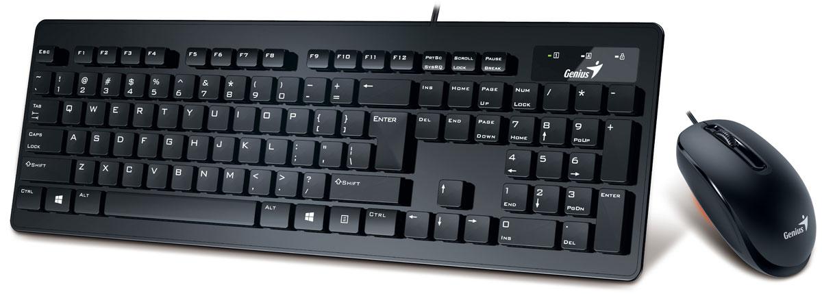 Genius Slimstar C120, Black клавиатура + мышь 31330217100