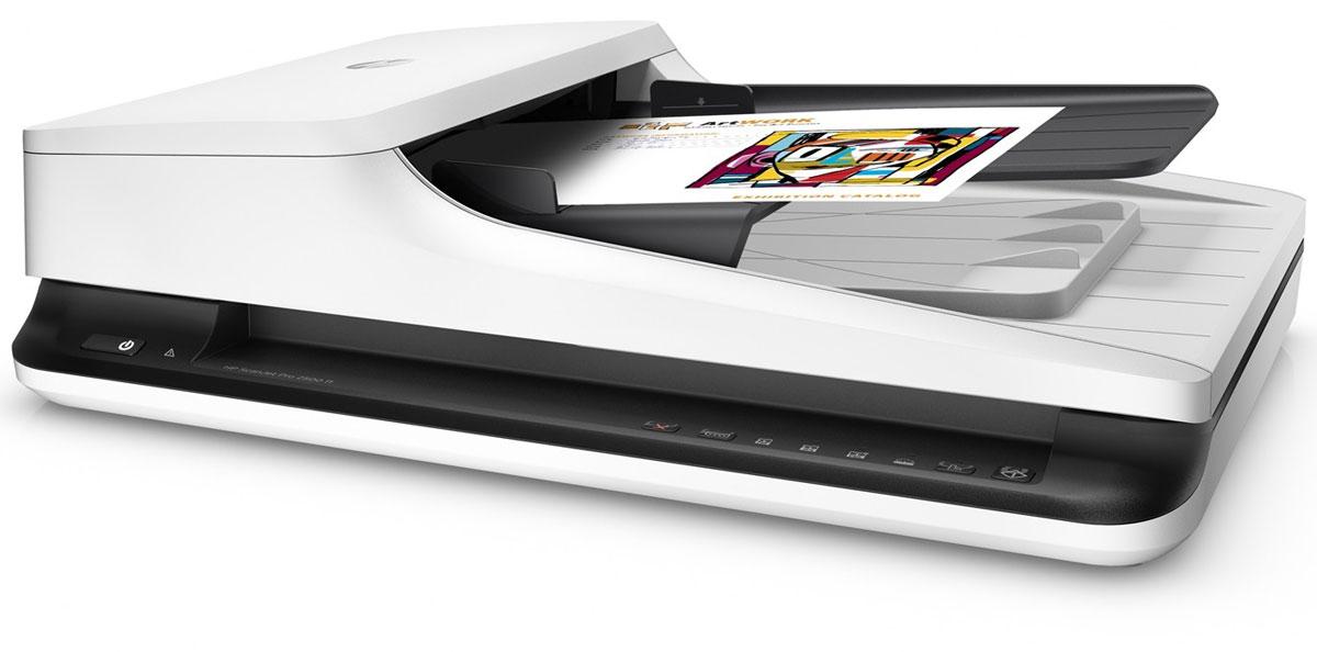 HP ScanJet Pro 2500 f1 сканер (L2747A)L2747AКомпактный сканер HP ScanJet Pro 2500 f1 повышает эффективность выполнения повседневных задач сканирования. Автоматизация рабочего процесса обеспечивается благодаря быстрому двухстороннему сканированию, устройству автоматической подачи документов на 50 страниц, ежедневному рабочему циклу 1500 страниц и быстрому вызову функций одной кнопкой. Кроме того, вы сможете быстро захватывать и редактировать текст из документов. Увеличение производительности благодаря быстрой и универсальной процедуре сканирования. Получение до 40 изображений в минуту при использовании двухстороннего сканирования и устройства автоматической подачи документов на 50 листов. Устройство автоматической подачи документов подходит для страниц размером до 21,6 см х 309,9 см (8,5 х 122), а планшет обеспечивает сканирование крупногабаритных носителей. Длительная подготовка больше не нужна: технология мгновенного включения lnstant-оп позволяет быстро начать сканирование. ...