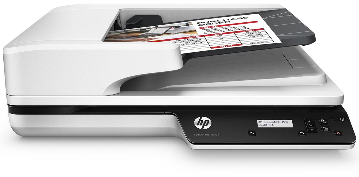 HP ScanJet Pro 3500 f1 сканер (L2741A)L2741AHP ScanJet Pro 3500 f1 - надежный высокоскоростной сканер, который может обрабатывать 3000 листов в день, что делает его идеальным решением для сложных проектов. Откройте для себя возможности двустороннего сканирования со скоростью до 50 изображений (25 страниц) в минуту. Оцените преимущества технологии HP EveryPage, которая обеспечивает точную подачу листов и упрощает работу. Быстрое и надежное двустороннее сканирование Функция двустороннего сканирования позволяет обрабатывать до 50 изображений (25 страниц) в минуту. Устройство обеспечивает надежное сканирование 3000 листов в день. Благодаря технологии HP EveryPage с ультразвуковым датчиком ни одна страница не будет потеряна даже при сканировании большого количества разнородных материалов. Устройство АПД подходит для страниц размером до 21,6 х 309,9 см (8,5 х 122), а планшет позволяет сканировать крупные носители. Избавьте себя от ненужных ожиданий: высокоскоростное подключение USB 3.0...