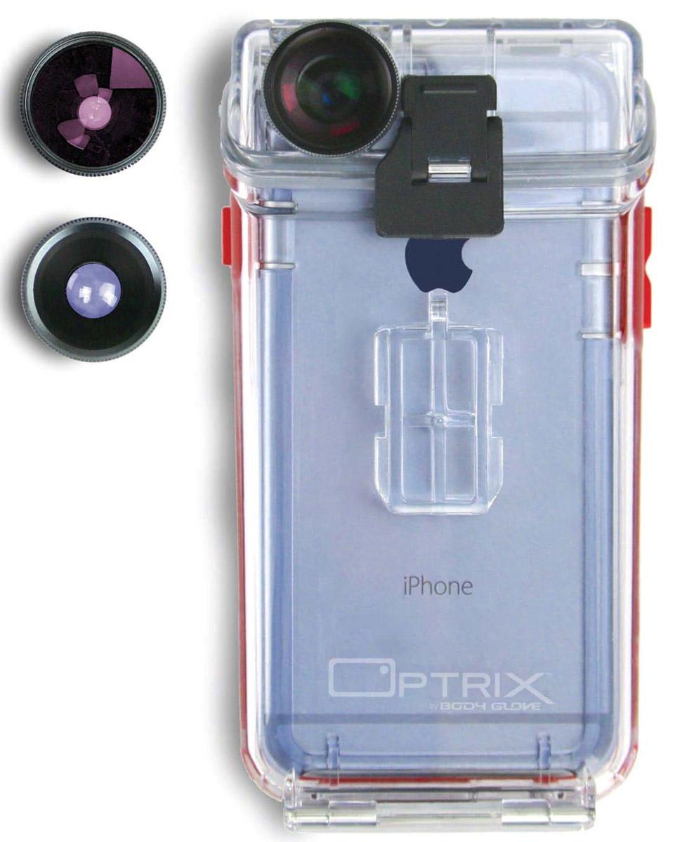 Optrix Photo FS-94767 чехол для Apple iPhone 6/6s с комплектом аксессуаров для фотосъемкиFS-94767Optrix Photo FS-94767 - набор для создания уникальных фотографий и видео при помощи вашего iPhone 6/6s. Ультралегкий защитный корпус обеспечит сохранность устройства в любых экстремальных условиях, тогда как сменные линзы значительно расширят возможности его камеры. Чехол отличается надежной конструкцией, превращающей ваш iPhone в полноценную экшн-камеру: съемка во время сплава по реке, велопрогулки, катания на лыжах, пляжного отдыха - все это возможно теперь при помощи Apple iPhone 6/6s. 100% водонепроницаемость при погружении на глубину до 4,5 м (соответствует стандарту IP68) Ударопрочность: выдерживает падение с высоты до 6,1 м (соответствует стандарту MIL-STD-810G) Сверхпрочный корпус, сохраняющий весь функционал смартфона Специальная защитная мембрана сохраняет все свойства сенсорного экрана Подходит к широкому ассортименту креплений