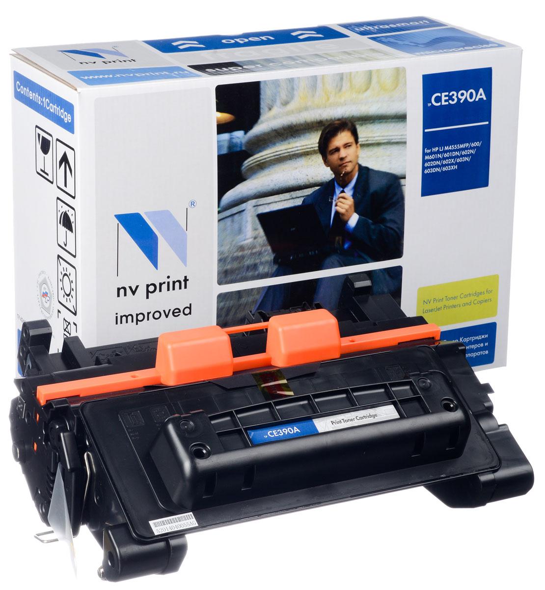 NV Print NV-CE390A, Black тонер-картридж для HP LaserJet M4555MFP/600/M601N/M601DN/602N/602DN/602X/603N/603DN/603XHNV-CE390AСовместимый лазерный картридж NV Print NV-CE390A для печатающих устройств HP - это альтернатива приобретению оригинальных расходных материалов. При этом качество печати остается высоким. Картридж обеспечивает повышенную чёткость чёрного текста и плавность переходов оттенков серого цвета и полутонов, позволяет отображать мельчайшие детали изображения. Лазерные принтеры, копировальные аппараты и МФУ являются более выгодными в печати, чем струйные устройства, так как лазерных картриджей хватает на значительно большее количество отпечатков, чем обычных. Для печати в данном случае используются не чернила, а тонер.
