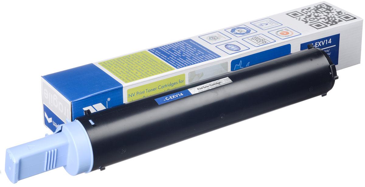 NV Print NV-CEXV14, Black тонер-картридж для Canon IR-2016/2020/2018/2022/2025/2030NV-CEXV14Совместимый лазерный картридж NV Print NV-CEXV14 для печатающих устройств Canon - это альтернатива приобретению оригинальных расходных материалов. При этом качество печати остается высоким. Картридж обеспечивает повышенную чёткость чёрного текста и плавность переходов оттенков серого цвета и полутонов, позволяет отображать мельчайшие детали изображения. Лазерные принтеры, копировальные аппараты и МФУ являются более выгодными в печати, чем струйные устройства, так как лазерных картриджей хватает на значительно большее количество отпечатков, чем обычных. Для печати в данном случае используются не чернила, а тонер.