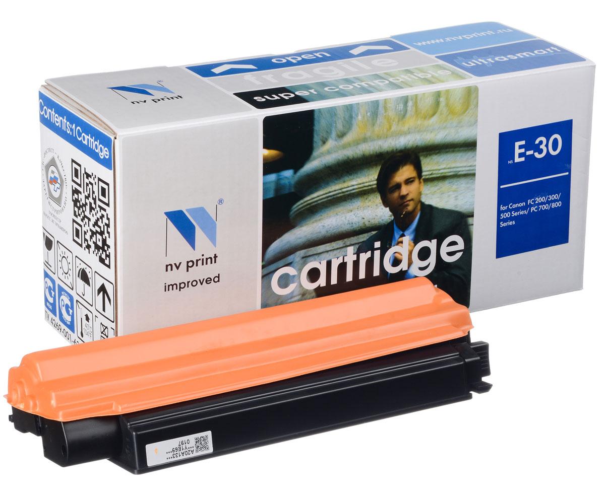 NV Print NV-E30, Black тонер-картридж для Canon FC-200/300/500 Series; PC-700/PC-800 SeriesNV-E30Совместимый лазерный картридж NV Print NV-E30 для печатающих устройств Canon - это альтернатива приобретению оригинальных расходных материалов. При этом качество печати остается высоким. Картридж обеспечивает повышенную чёткость чёрного текста и плавность переходов оттенков серого цвета и полутонов, позволяет отображать мельчайшие детали изображения. Лазерные принтеры, копировальные аппараты и МФУ являются более выгодными в печати, чем струйные устройства, так как лазерных картриджей хватает на значительно большее количество отпечатков, чем обычных. Для печати в данном случае используются не чернила, а тонер.