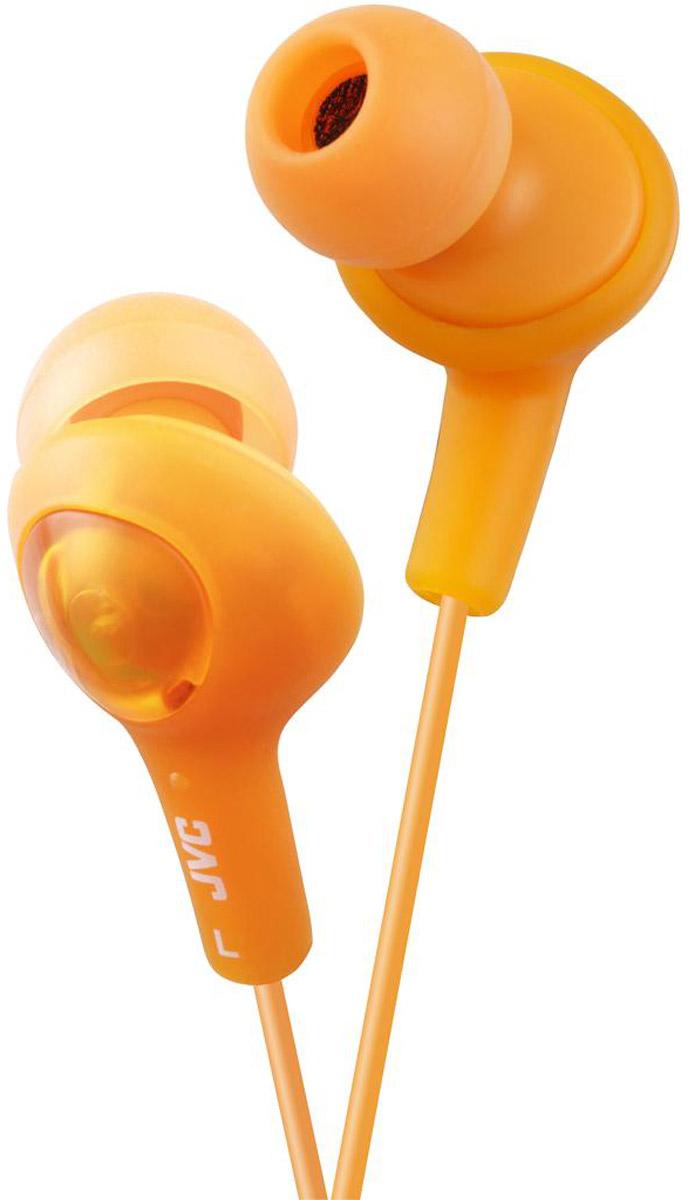 JVC Gumy Plus HA-FX5-D, Yellow наушникиHA-FX5-DНаушники JVC Gumy Plus HA-FX5-D из мягкой резины обеспечивают комфортное и удобное прилегание. Благодаря неодимовому магниту, используемому в 11 мм драйверах, вы получаете качественное звучание и отличные басы. Наушники имеют кабель длиной 1 м с позолоченным штекером.