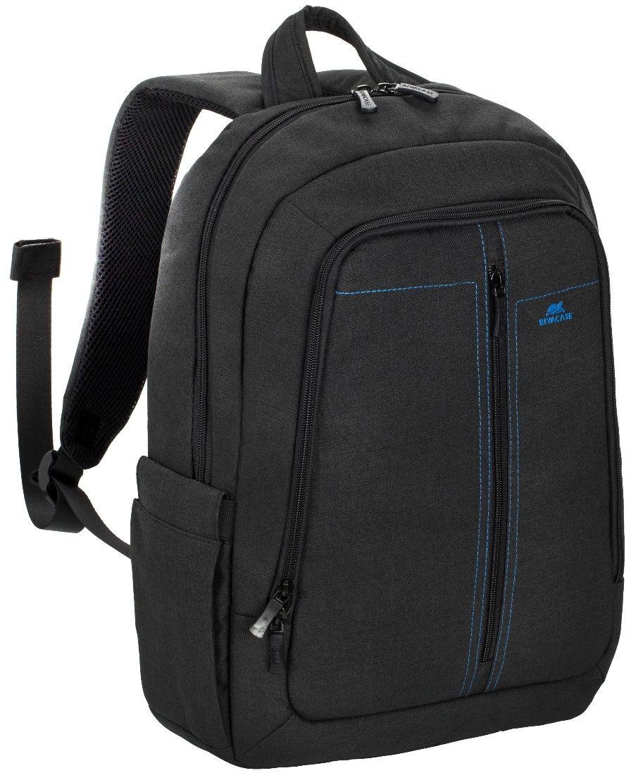 Riva 7560, Black рюкзак для ноутбука 15,66612Riva 7560 - стильный городской рюкзак из высококачественной, водоотталкивающей ткани. Он достаточно легкий, но имеет утолщенные стенки для защиты ноутбука от случайных ударов и царапин, а также от пыли и влаги. Основное отделение с вертикальной загрузкой имеет мягкие стенки и ремень для надежной фиксации ноутбука до 15.6. Также имеется дополнительное внутреннее отделение для планшета с диагональю до 10.1. Внешний передний карман на молнии оборудован панелью-органайзером для хранения визитных карт, флэш-накопителей, смартфона. Удобная мягкая ручка для переноски и наплечные ремни со смягчающими подкладками помогут чувствовать себя комфортно в самом долгом путешествии. Специальная система крепления ремешков на липучке закрепляет их и создает дополнительное удобство. Два боковых кармана для ёмкостей с водой Двойная застежка молния для удобного доступа к устройству