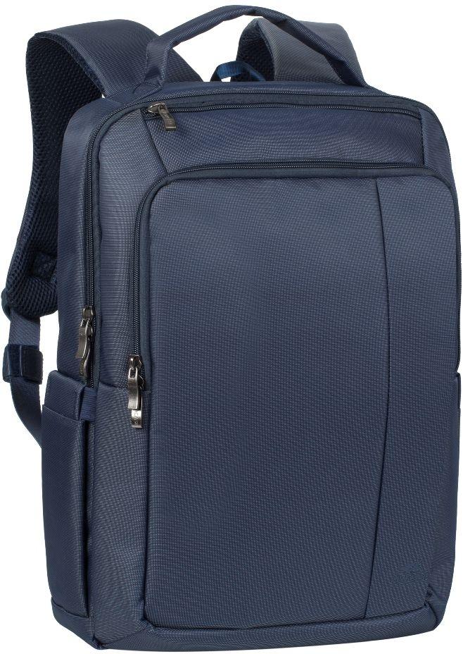 Riva 8262, Blue рюкзак для ноутбука 15,66696Riva 8262 - рюкзак для деловых поездок и туристических путешествий. Он изготовлен из плотного синтетического материала и имеет утолщенные стенки для лучшей защиты ноутбука от случайных ударов и царапин, а также от пыли и влаги. Основное отделение с вертикальной загрузкой имеет мягкие стенки и ремень для надежной фиксации ноутбука до диагонали 15.6 и просторную секцию для хранения книг и документов. Также имеется дополнительное внутреннее отделение для планшета с диагональю до 10.1. Передний карман на молнии предназначен для хранения аксессуаров, зарядного устройства. Он оборудован органайзером для хранения визитных карт, авторучек, смартфона. Удобная мягкая ручка для переноски и наплечные ремни со смягчающими подкладками помогут чувствовать себя комфортно в самом долгом путешествии. На задней стенке имеется ремень крепления к багажной сумке На верхней панели карман на молнии для смартфона, 7 планшета Два боковых...