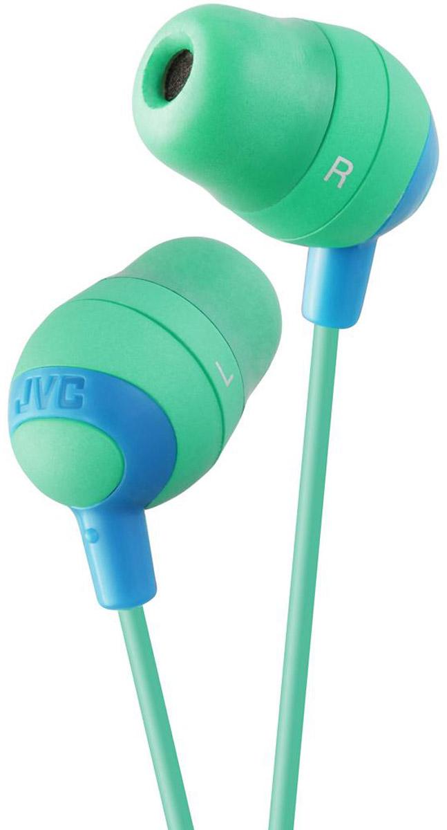 JVC Marshmallow HA-FX32-G, салатовый наушникиHA-FX32-GНаушники JVC Marshmallow HA-FX32-G овальной формы из мягкой резины обеспечивают комфортное и удобное прилегание. Благодаря неодимовому магниту, используемому в 11 мм драйверах, вы получаете качественное звучание. Наушники имеют кабель длиной 1.2 м с позолоченный штекером, также совместимым с iPhone.