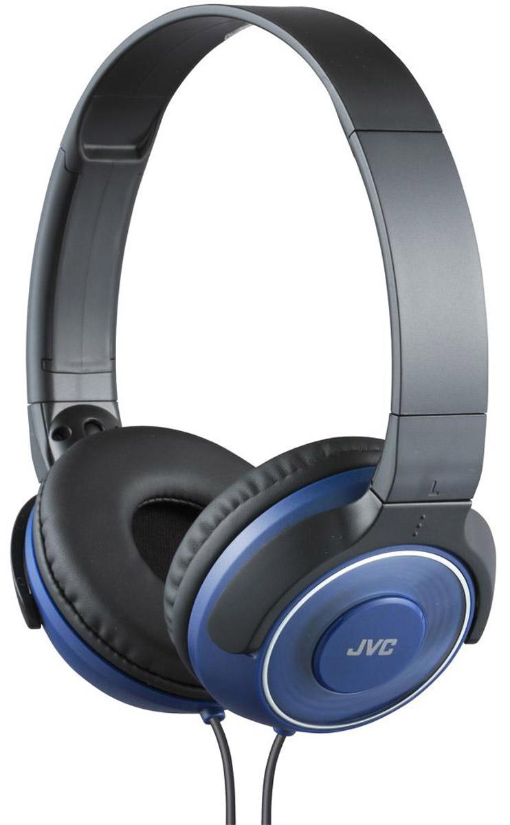 JVC HA-S220-A, Blue наушникиHA-S220-AПортативные накладные наушники JVC HA-S220-A с уникальным дизайном имеют превосходное качество звука благодаря фазоинверторным портам и высококачественной 30 мм динамической головкой с ниодимовыми магнитами. Удобные и мягкие амбушюры сделаны для максимального комфорта и качественной звуко-изоляции. Прочный кабель длиной 1,2 метра оснащен позолоченным тонким штекером L-типа, также совместимым с iPhone.