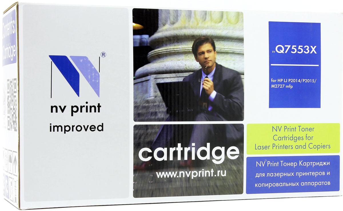 NV Print NV-Q7553X, Black тонер-картридж для HP LaserJet P2014/P2015/M2727NV-Q7553XСовместимый лазерный картридж NV Print NV-Q7553X для печатающих устройств HP LaserJet и Canon - это альтернатива приобретению оригинальных расходных материалов. При этом качество печати остается высоким. Картридж обеспечивает повышенную чёткость чёрного текста и плавность переходов оттенков серого цвета и полутонов, позволяет отображать мельчайшие детали изображения. Лазерные принтеры, копировальные аппараты и МФУ являются более выгодными в печати, чем струйные устройства, так как лазерных картриджей хватает на значительно большее количество отпечатков, чем обычных. Для печати в данном случае используются не чернила, а тонер.